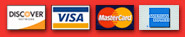 We accept Discover, Visa, MasterCard, and American Express